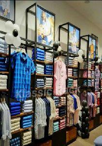 Wooden Garment Display Rack