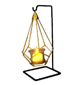 Iron Candle Lantern with Stand