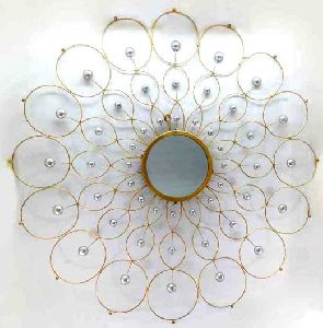 Round Wall Mirror Starburst Wall Decor