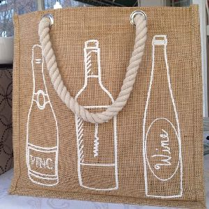 Jute Bottle Holder