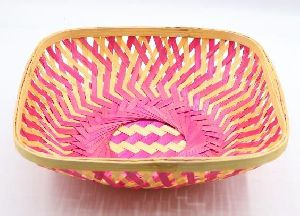 Curved Square Bamboo Basket