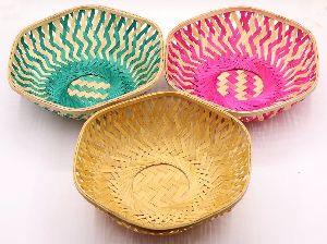 Hexagonal Bamboo Basket