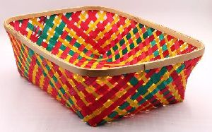 Rectangular Bamboo Basket