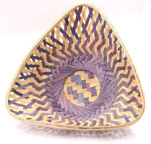 Triangle Bamboo Basket