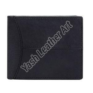 6 Card Slot Mens Black Leather Wallet