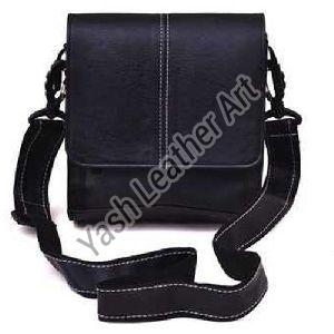 Black Men PU Leather Crossbody Bag