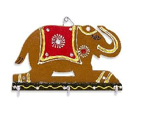 Wooden Elephant Key Holder