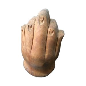 Wooden Hand Statue