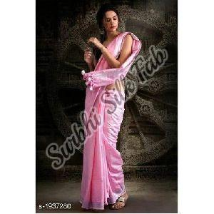 Ethnic Tissue Linen Saree