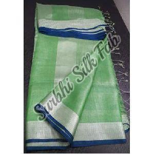 Zari Tissue Linen Saree