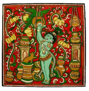 Tanjore Butter Krishna Painting
