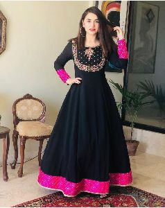 Black Georgette Gown