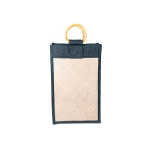 3 Bottle Jute Wine Bag