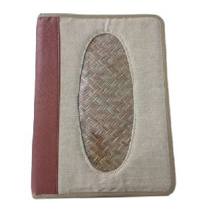 Jute File Folder with Zip