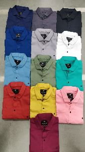 Mens Crystal Plain Shirt