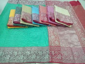 Checkered Cotton Sarees