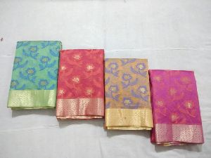 Fancy Chanderi Cotton Sarees