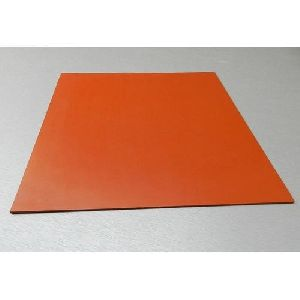 Orange Silicone Rubber Sheet
