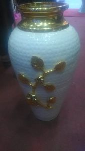 Aluminium Flower Pot with Brass Top