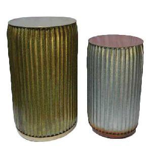 Aluminum Drum Shaped Table