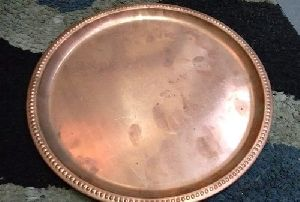 Copper Round Serving Tray