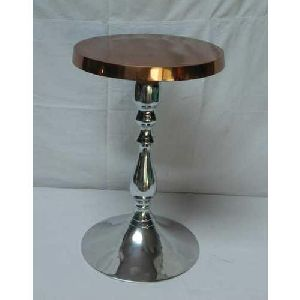 Designer Aluminum Round Table