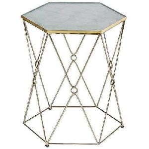Hexagonal Iron Table