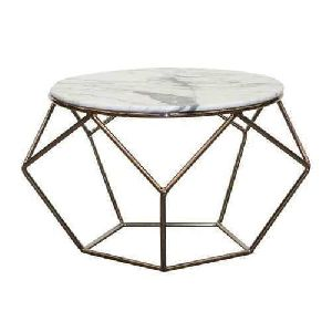 Marble Top Iron Modern Table
