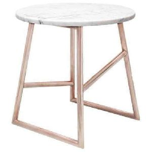 Marble Top Iron Round Table