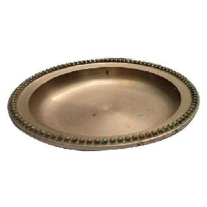 Round Brass Serving Tray