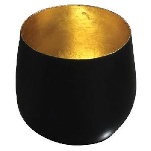 Round Iron T-Light Pot