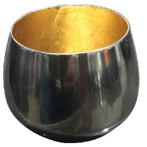 Silver Plated Iron T-Light Pot