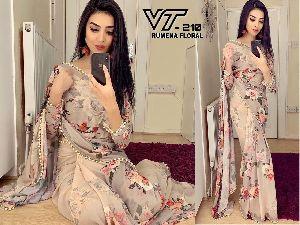 Party Wear Printed Saree