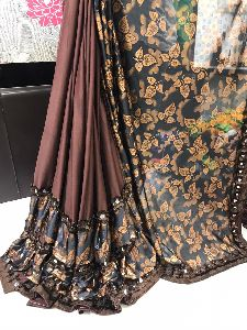 Printed Ruffle Saree