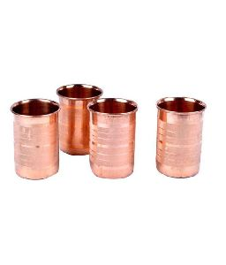 4 Piece Copper Glass Set