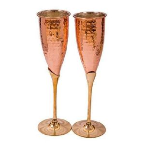 Copper Wine Glass Set