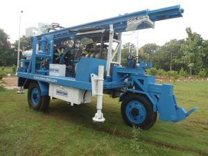 Trolley Mounted DTH cum Rotary Drilling Rig