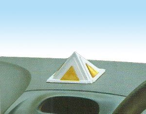 Vastu Silver Pyramid for Car Safety