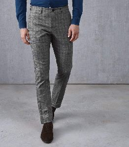 Mens Checked Trousers