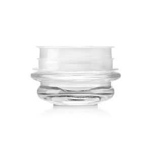 Transparent Curved Glass Jars