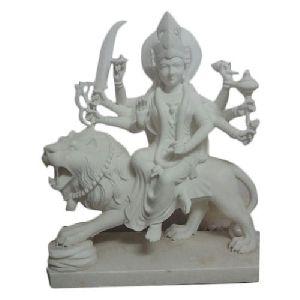 18 Inch Marble Durga Maa Statue