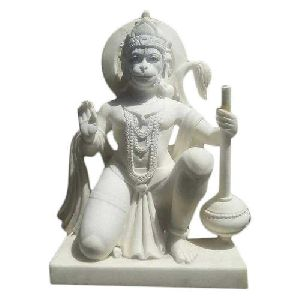 24 Inch Marble Hanuman Statue