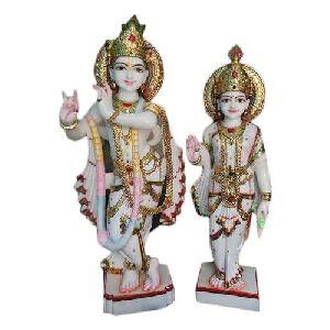 24 Inch Marble Radha Krishna Statue