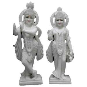 30 Inch Marble Radha Krishna Statue