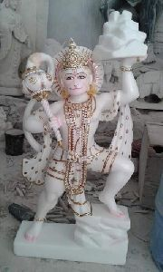 Colored Marble Hanuman Statue