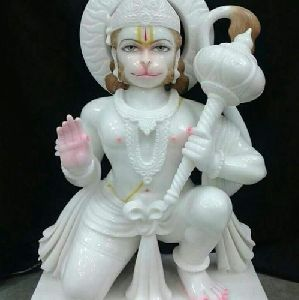 Decorative Marble Hanuman Statue