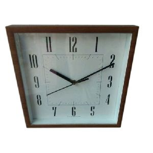 Black Square Wall Clock