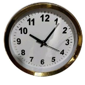 Golden Round Wall Clock