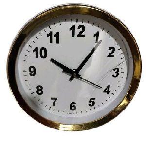 Golden Round Wall Clock