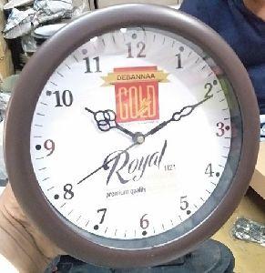 Grey Round Wall Clock